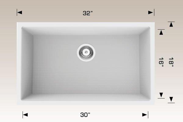 Granite Series Undermount Sink 205356S