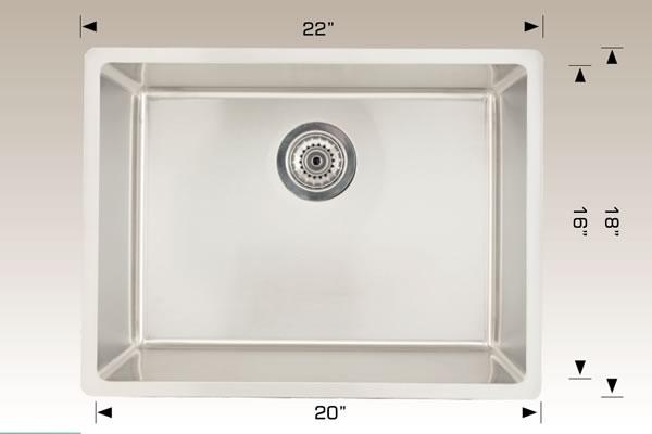Laundry Series Undermount Radius Corner Sink 208054
