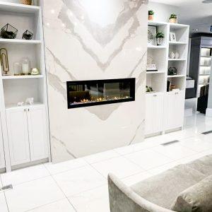 Quartz Fireplace Installation Markham