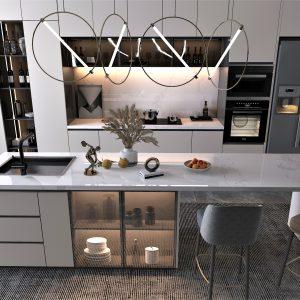 Calacatta Arctic Evo Quartz Kitchen