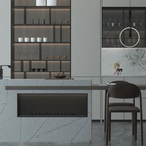 Calacatta Concrete Evo Quartz Kitchen