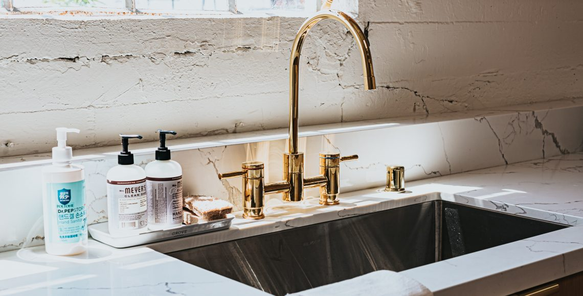Granite Sink with Quartz Countertop