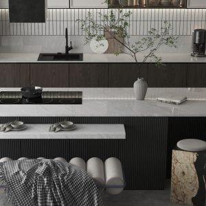 Pacific Grey Quartz Kitchen